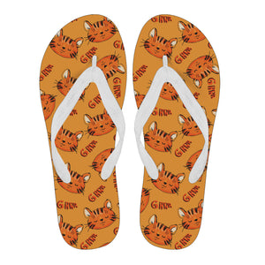 Ginger Cat Flip Flops