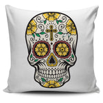 Cross Skull Pillow Cover