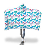 Pastel Colored Horse Hooded Blanket