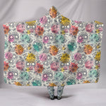 Pastel Sugar Skull III Hooded Blanket