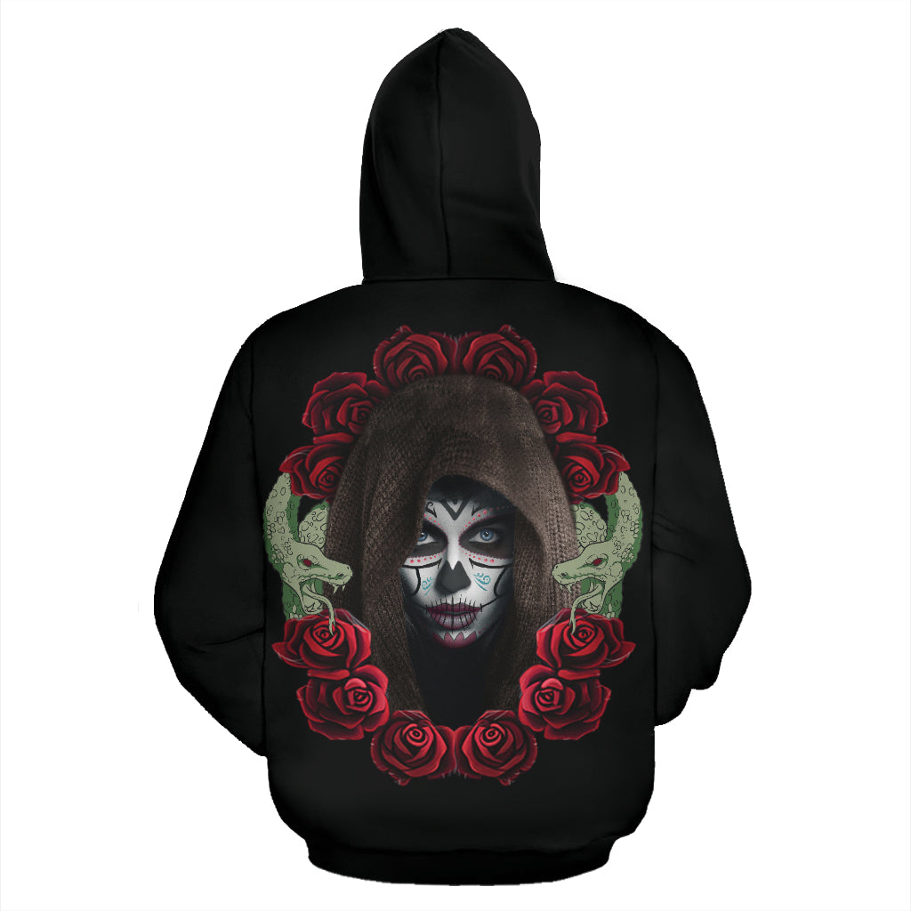 Hidden Rose Sugar Skull Hoodies