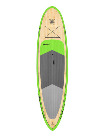 10'6″ Brusurf Charger Bamboo Paddleboard Green