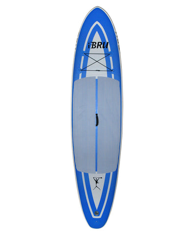 "10'8"" BruSurf Inflatable Stand Up Paddleboard Package - Blue"
