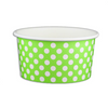 06 OZ. PAPER YOGURT CUPS, POLKA DOT LIME GREEN - 1,000 PCS/CS - (Item: 20662) - CarryOut Supplies