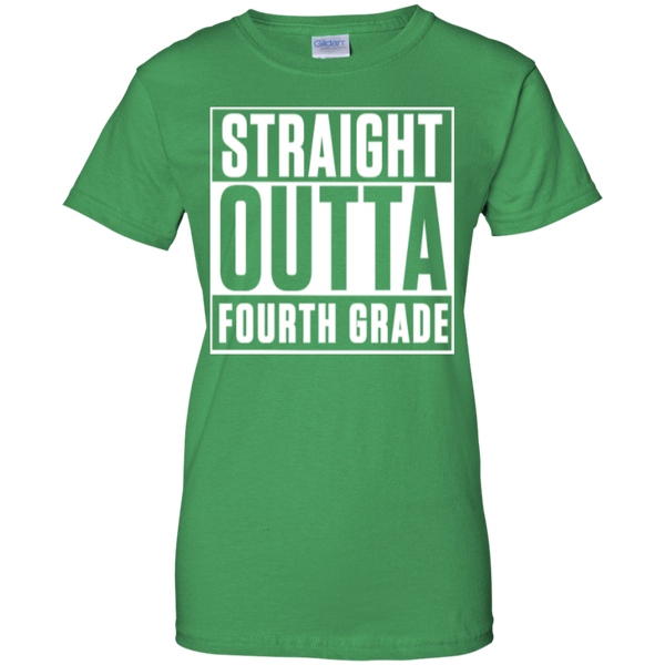 Straight Outta Fourth Grade  100% Cotton T-Shirt - TeachersLoungeShop - 9