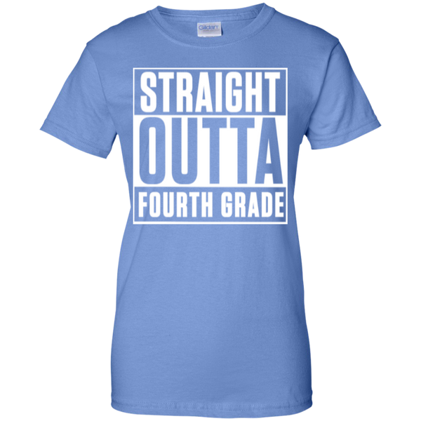 Straight Outta Fourth Grade  100% Cotton T-Shirt - TeachersLoungeShop - 8