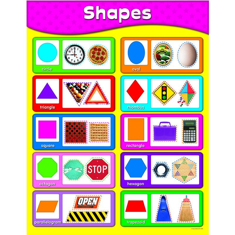 Shapes Learning Chart - Seasonal Expressions