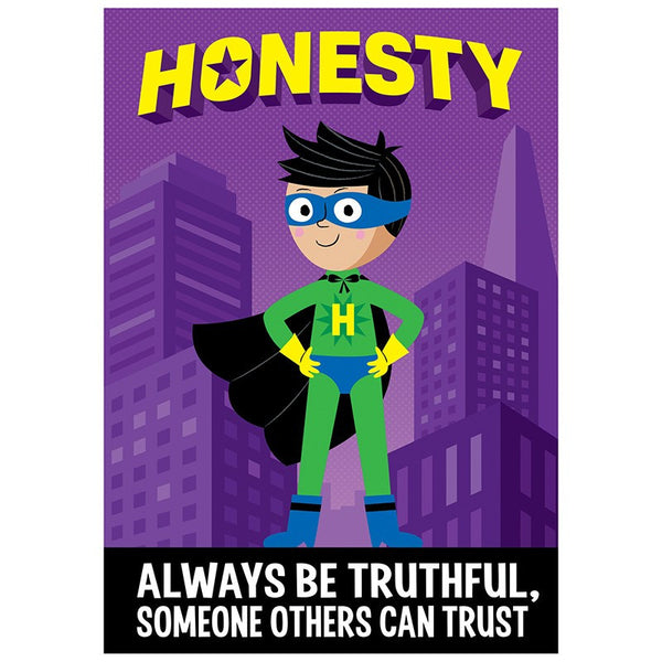 Bulletin Board Chart-Character Building-Superhero-Honesty