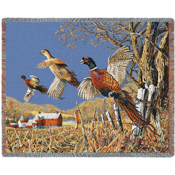 Throw Blanket-72 x 54-Rustic-High Field Flush