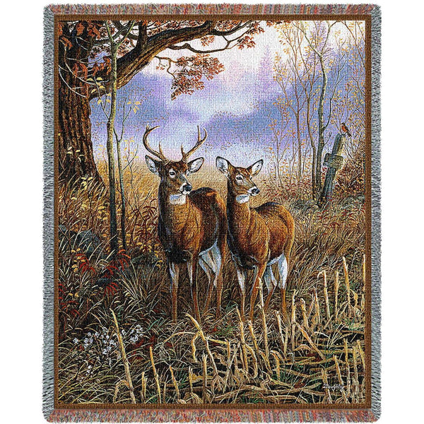 Throw Blanket-54 x 70-Rustic-Country Treasures-Deer