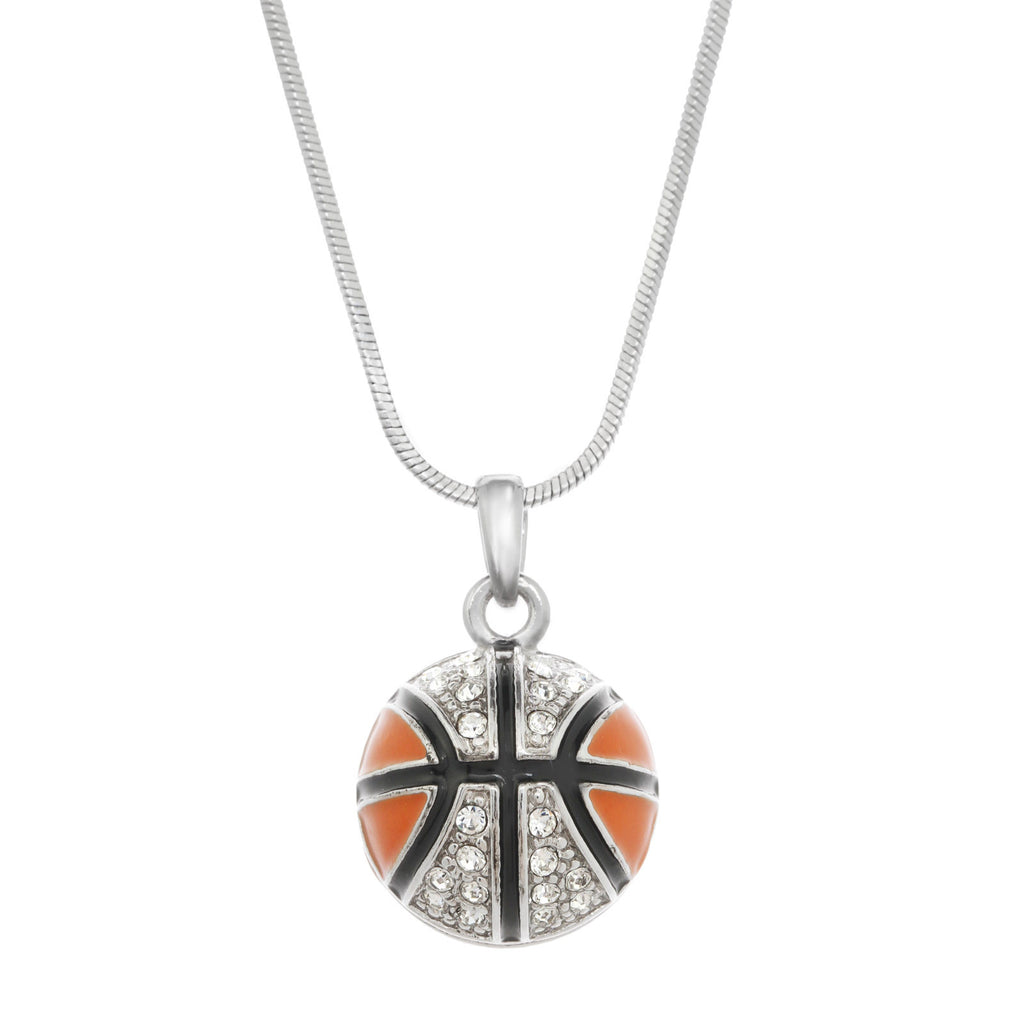 Pave Basketball Necklace
