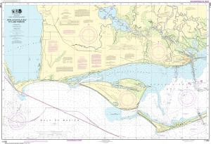 US NOAA Chart 11402 Intracoastal Waterway Apalachicola Bay to Lake Wimico