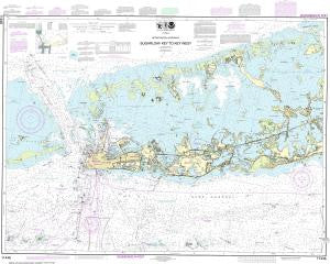 US NOAA Chart 11446 Intracoastal Waterway Sugarloaf Key To Key West