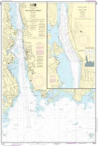 US NOAA Chart 13213 New London Harbor and vicinity;Bailey Point to Smith Cove