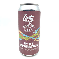 Unity Brewing x DEYA 5° of Separation Stout 6% (440ml can)-Hop Burns & Black