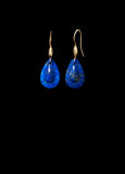 Small Lapis Teardrop Earring
