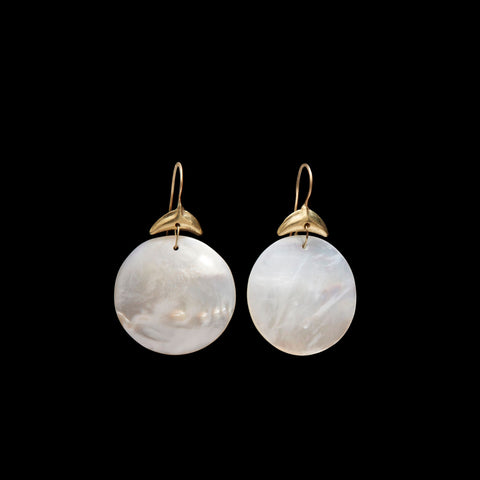 Mother of Pearl Disc Earring