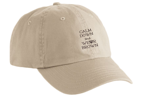 """Calm Down and Wear Brown"" Caps"
