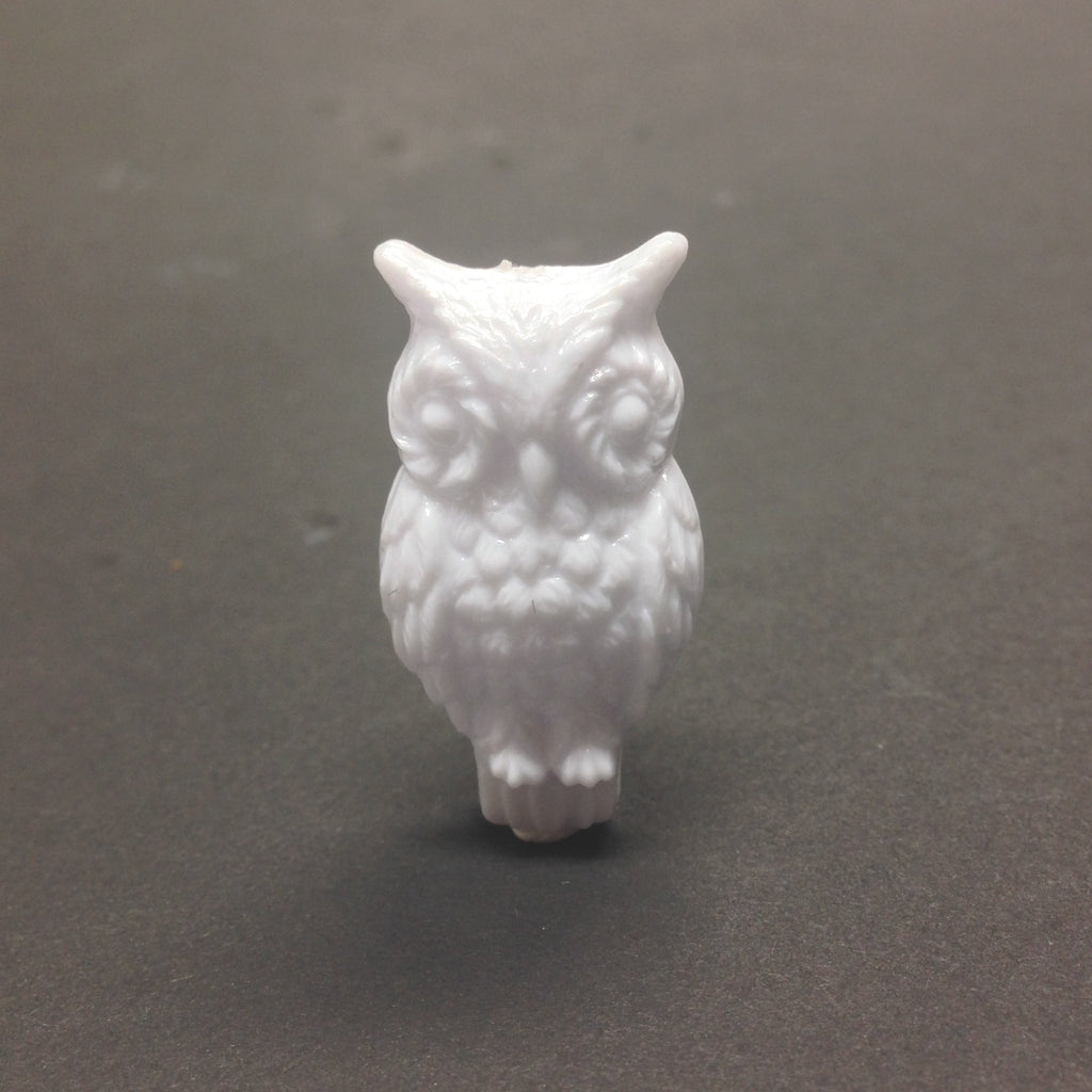 31X17MM White Owl Bead (24 pieces)
