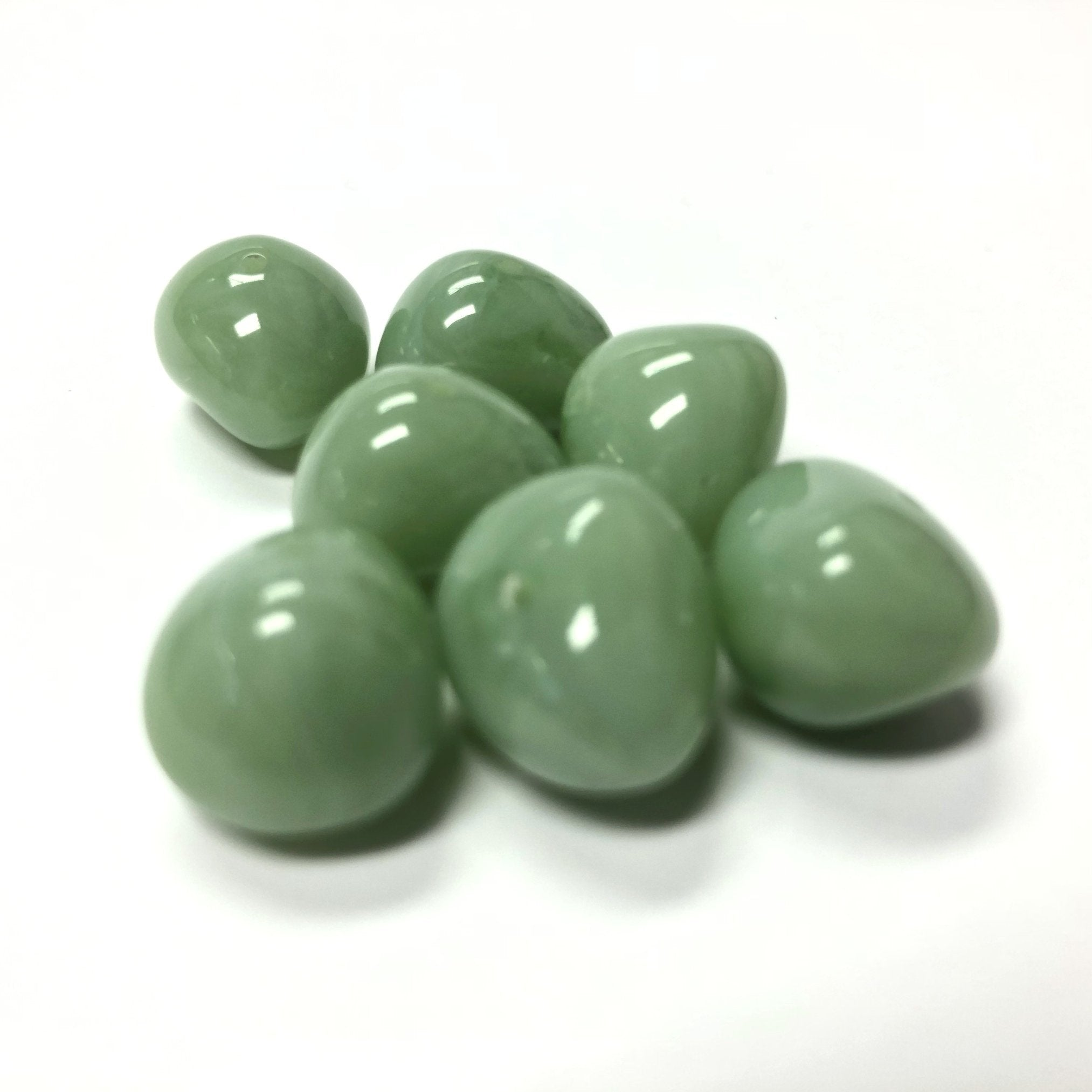 "12X16MM Green ""Agate"" Nugget Acrylic Bead (36 pieces)"
