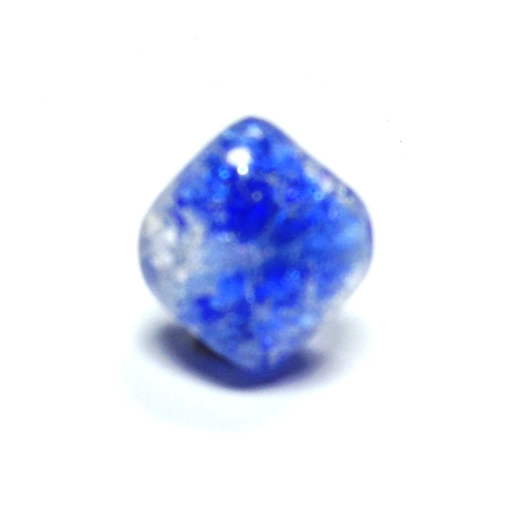 12MM Sapphire Blue Crackle Glass Bead (36 pieces)