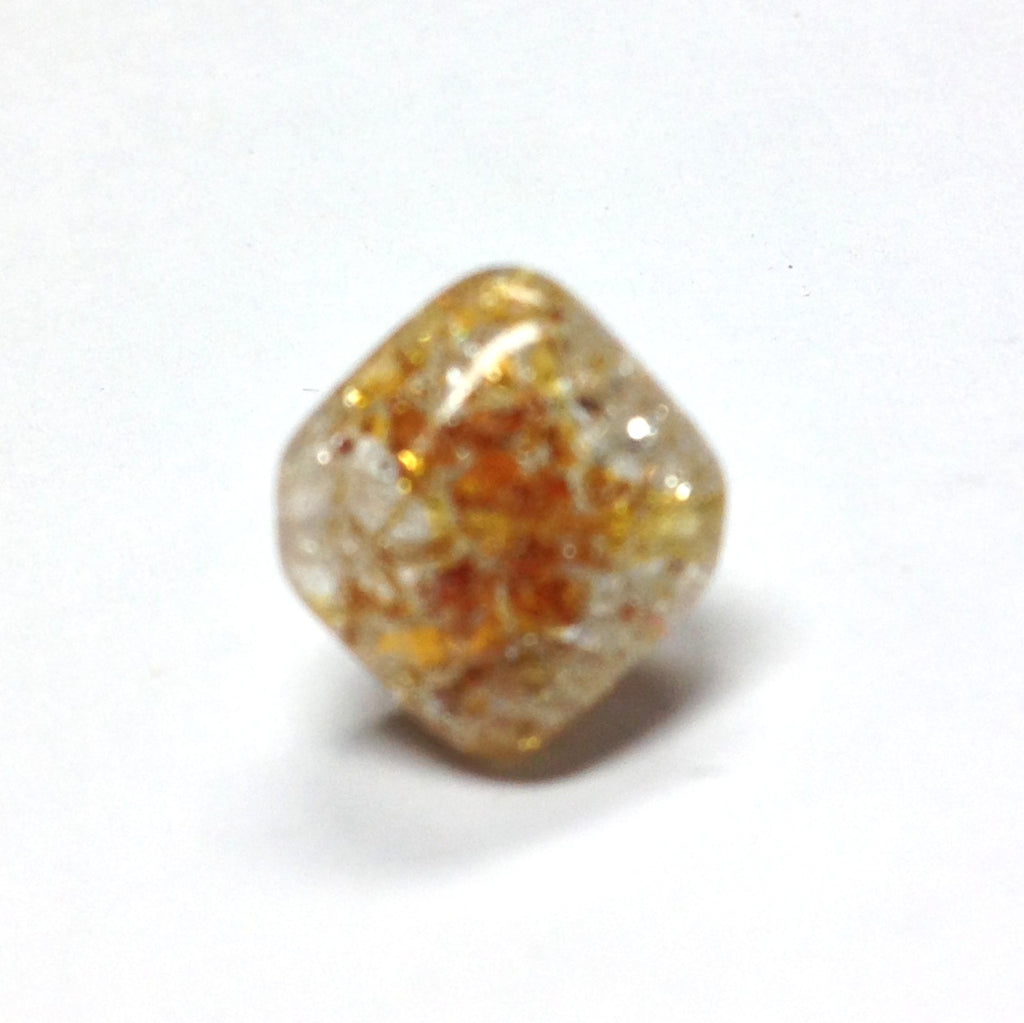 12MM Topaz Crackle Glass Bead (36 pieces)