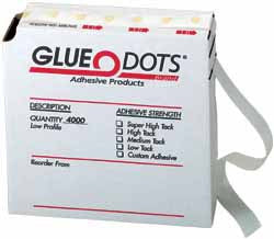 "Glue Dots®, rolls of 4,000 dots, low profile (.014"" thick)"