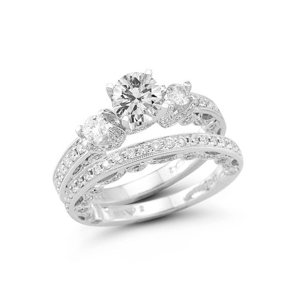 The Single Row Three Stone Engagement Ring