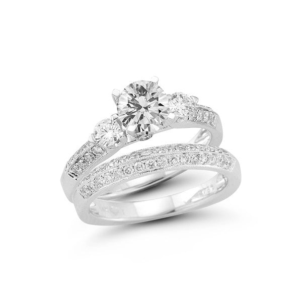 The Double Row Three Stone Engagement Ring