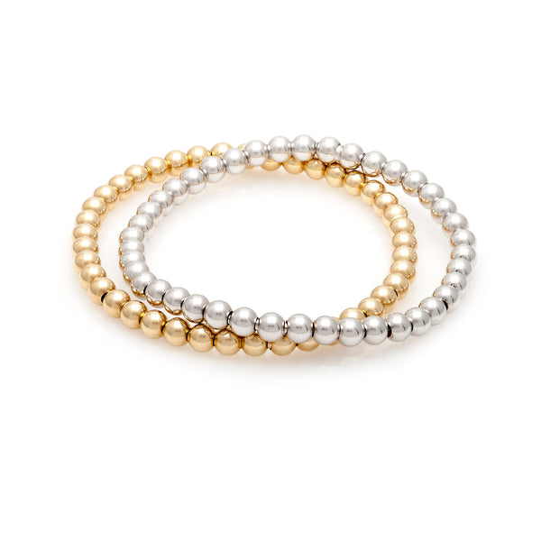 Gold Bead Stretch Bracelet—60% OFF—ADDITIONAL MARKDOWN!