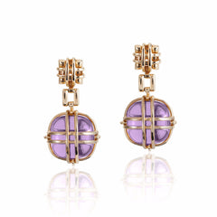 Freedom Caged Amethyst Earrings