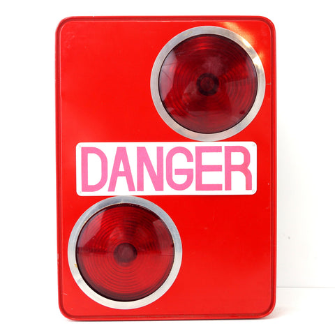 Vintage Danger Flashing Safety Light Sign in Red by Equality (c.1950s) - ThirdShiftVintage.com