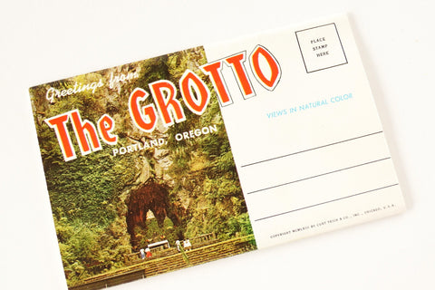 Vintage Post Card Souvenir Booklet of The Grotto, Portland Oregon (c.1963) - ThirdShiftVintage.com