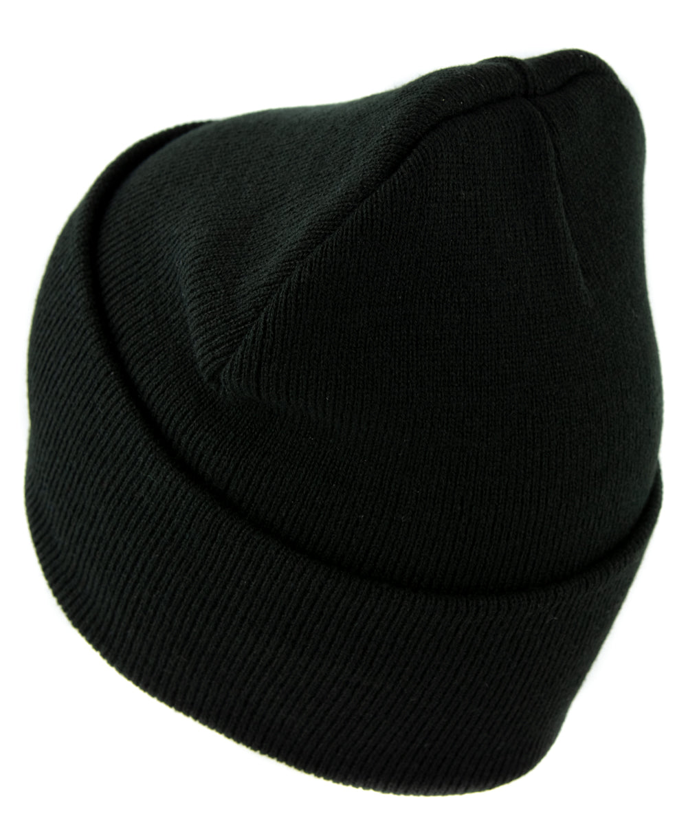 Black Metal Style Inverted Cross Cuff Beanie Knit Cap Unholy Evil Alternative Clothing