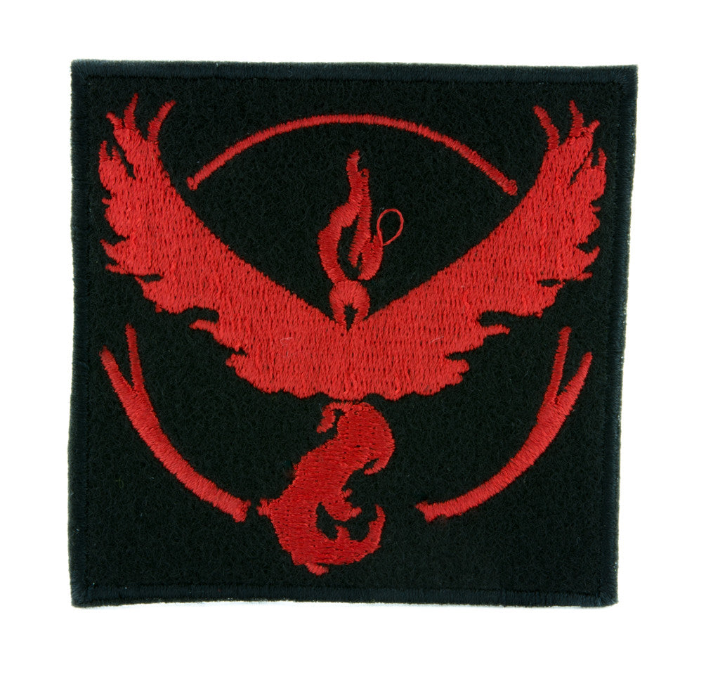 Team Valor Red Pokemon Go Patch Iron on Applique Alternative Clothing Pikachu