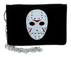 Hockey Mask Friday the 13th Tri-fold Wallet Horror Clothing Cult Classic Jason Voorhees