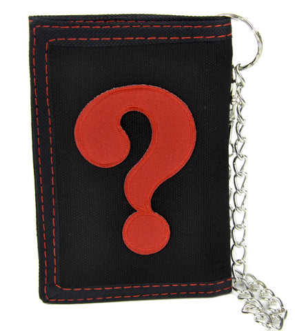 ? Question Mark Tri-fold Wallet with Chain Alternative Clothing