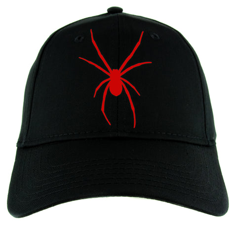 Red Halloween Black Widow Spider Hat Baseball Cap Scary Alternative Clothing Snapback