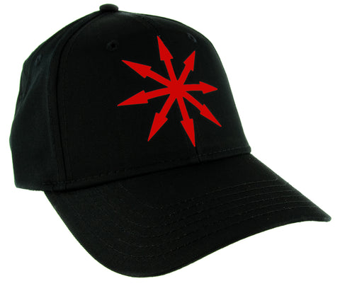 Red Chaos Star Symbol of Eight Hat Baseball Cap Warhammer Occult Alternative Clothing Snapback