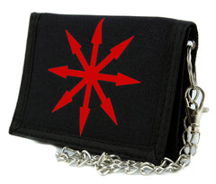 Red Chaos Star Symbol of Eight Tri-fold Wallet Warhammer Alternative Clothing