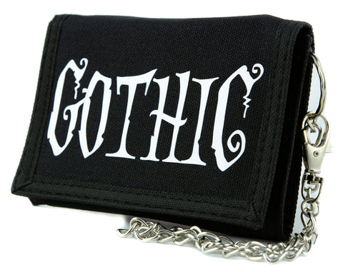 """Gothic"" Horror Tri-fold Wallet Dark Halloween Alternative Clothing"