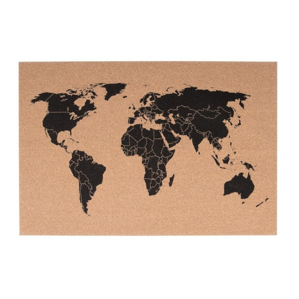 Corkboard World Map