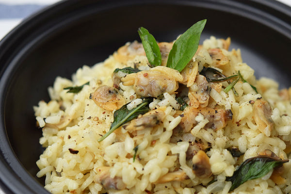 Risotto with Clams in White Wine Sauce