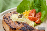 Grilled Pork Chop with White Wine Sauce
