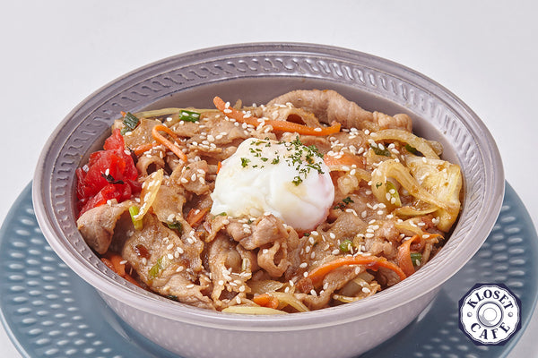 Japanese Style Pork Yakiniku with Soft Boiled Egg