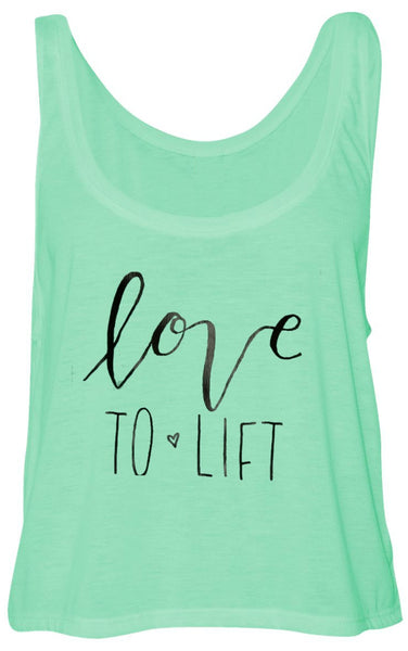 Love to Lift Flowy Boxy Tank Mint