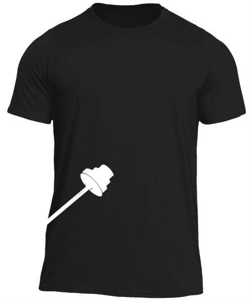 Trainingear Lifting Bar Fitted T-Shirt Black