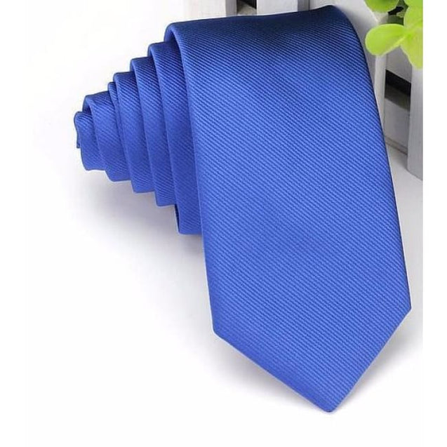 WEDDING - ROYAL BLUE NECKTIE (6CM) - Elnukstyles | unique affordable men's Bow Ties, Knitted Neckties, Flower Lapel Pins, Pocket Squares, Tie Clips, Cufflinks, Brooch, Toronto