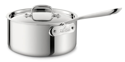 All-Clad Stainless Steel 3-Quart Sauce Pan with Lid
