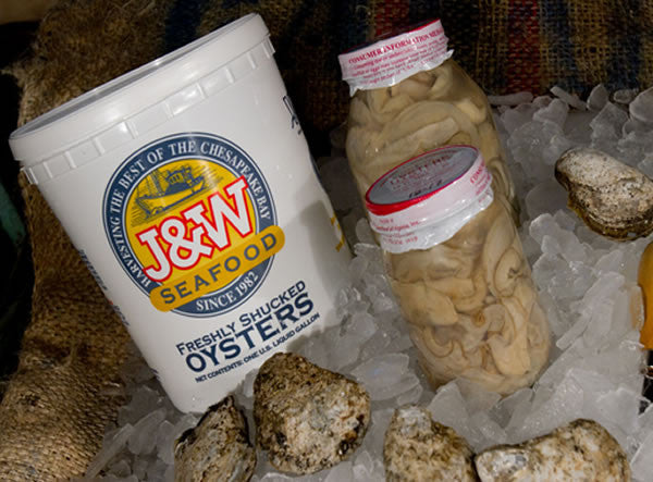 Gallon, Quart & Pint Shucked Oysters